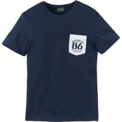 T-shirty męskie: T-shirt Slim Fit bonprix ciemnoniebieski