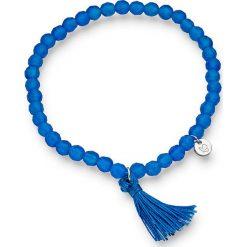Bransoletki damskie na nogę: Bransoletka w kolorze niebieskim
