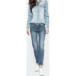 Levi's - Jeansy SLIM NOTORIOUS BLUES. Brązowe jeansy damskie rurki Levi's®, z aplikacjami, z bawełny. Za 449,90 zł.