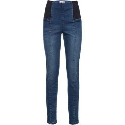 Dżinsy  modelujące sylwetkę JEGGINSY bonprix niebieski. Niebieskie legginsy bonprix, z podwyższonym stanem. Za 59,99 zł.