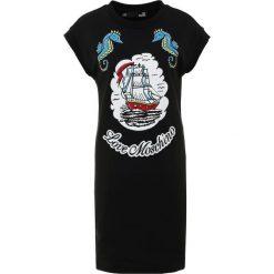 Love Moschino Sukienka letnia black. Czarne sukienki letnie marki Love Moschino, z bawełny. W wyprzedaży za 621,75 zł.