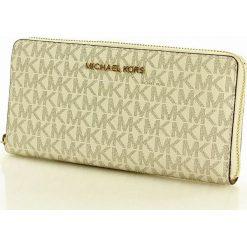Logowany portfel MICHAEL KORS - JET SET TRAVEL- vanilla. Białe portfele damskie Michael Kors. Za 650,00 zł.
