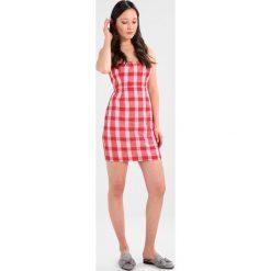 Sukienki hiszpanki: Bardot SWEET DRESS Sukienka letnia red check