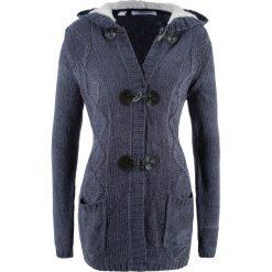 Sweter rozpinany z szenili, długi rękaw bonprix jagodowy. Fioletowe swetry rozpinane damskie bonprix. Za 129,99 zł.