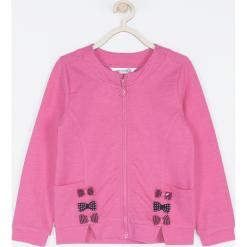 Bluza. Czerwone bluzy dziewczęce rozpinane PRETTY GIRL, z napisami, z bawełny. Za 75,90 zł.