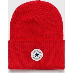 Converse - Czapka. Czerwone czapki zimowe damskie Converse, na zimę. Za 89,90 zł.
