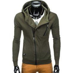 Bluzy męskie: BLUZA MĘSKA ROZPINANA Z KAPTUREM B738 – KHAKI