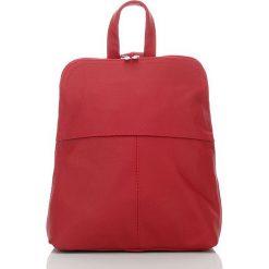 BEVERLY skórzany plecak damski Czerwony. Czerwone plecaki damskie Abruzzo, eleganckie. Za 129,00 zł.