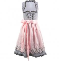 Sukienka ludowa z fartuchem, długość do kolan bonprix dymny szary wzorzysty. Fioletowe sukienki z falbanami bonprix, midi. Za 349,99 zł.