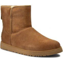 Botki UGG - W Cory 1013437  W/Che. Szare buty zimowe damskie marki Ugg, z materiału, z okrągłym noskiem. W wyprzedaży za 559,00 zł.