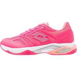 Lotto VIPER ULTRA IV Obuwie do tenisa Outdoor rosa neon/glam. Czerwone buty sportowe damskie marki Lotto, z materiału, na golfa. Za 379,00 zł.