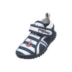 Playshoes  Buty do wody Maritim blue - niebieski. Niebieskie buciki niemowlęce Playshoes, z materiału. Za 59,00 zł.