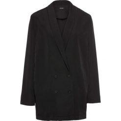 Żakiet koszulowy bonprix czarny. Czarne marynarki i żakiety damskie bonprix. Za 69,99 zł.