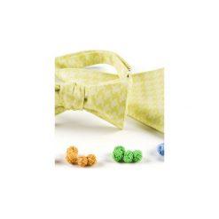Komplet Mucha wiązana LIMONKA +poszetka +spinki do mankietów. Żółte muchy męskie HisOutfit, z materiału, wizytowe. Za 149,00 zł.