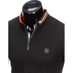 KOSZULKA MĘSKA POLO BEZ NADRUKU S916 - CZARNA. Czarne koszulki polo marki Ombre Clothing, m, z nadrukiem. Za 45,00 zł.