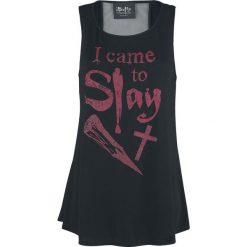 Buffy: Postrach Wampirów I Came To Slay Top damski czarny. Szare topy damskie marki Sinsay, l, z dekoltem na plecach. Za 62,90 zł.