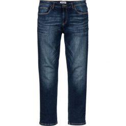 """Dżinsy """"power-stretch"""" Slim Fit Straight bonprix ciemnoniebieski """"used"""". Niebieskie jeansy męskie relaxed fit bonprix, z jeansu. Za 109,99 zł."""