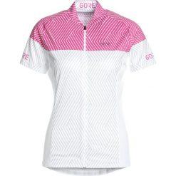 Gore Wear OPTILINE  Tshirt z nadrukiem white/raspberry rose. Białe topy sportowe damskie Gore Wear, z nadrukiem, z materiału. Za 339,00 zł.