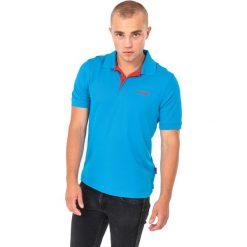 Hi-tec Koszulka męska Site Blue Aster/Fiery Red r. L. Czerwone koszulki sportowe męskie Hi-tec, l. Za 54,54 zł.