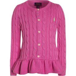 Swetry dziewczęce: Polo Ralph Lauren PEPLUM  Kardigan hammond pink