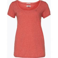 Tommy Jeans - T-shirt damski, czerwony. Czerwone t-shirty damskie Tommy Jeans, l, z denimu. Za 129,95 zł.