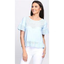Bluzki damskie: Niebieska Bluzka Hollywood Glam