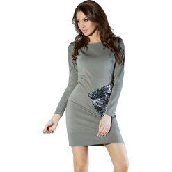 Sukienki hiszpanki: Sukienka w kolorze zielono-srebrnym
