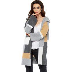 Swetry klasyczne damskie: Sweter w kolorze grafitowo-jasnoszarym