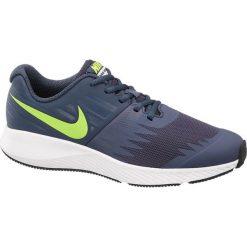 Buty Nike Star Runner BG NIKE stalowoniebieskie. Czarne buty sportowe damskie marki Nike, z materiału, nike tanjun. Za 179,90 zł.