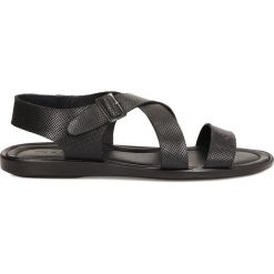 Sandały męskie skórzane: Czarne sandały męskie