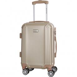 Walizka w kolorze beżowym - 36 l. Brązowe walizki marki Platinium, z materiału. W wyprzedaży za 179,95 zł.