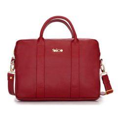 SKÓRZANA TORBA NA LAPTOPA DULCE CZERWONA MCKENZIE. Czerwone torby na laptopa FeliceGold, w paski, z bawełny. Za 399,00 zł.