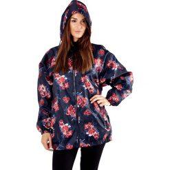 Nieprzemakalna damska kurtka ProClimate Floral. Składana w kieszeń. Czarne bomberki damskie Astratex, w kwiaty, z kapturem. Za 64,99 zł.