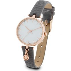 Zegarek na rękę bonprix ciemnoszary - kolor czerwonego złota. Szare zegarki damskie bonprix, złote. Za 79,99 zł.
