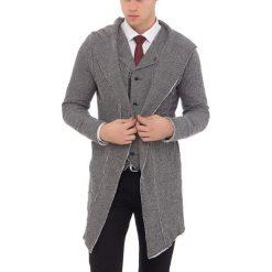 Kardigan w kolorze czarno-białym. Czarne kardigany męskie marki Reserved, m, z kapturem. W wyprzedaży za 99,95 zł.
