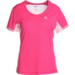 Salomon AGILE TEE Tshirt z nadrukiem pink yarrow. Czerwone t-shirty damskie Salomon, s, z nadrukiem, z materiału. W wyprzedaży za 141,55 zł.
