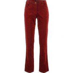 Spodnie sztruksowe ze stretchem bonprix czerwony kasztanowy. Czerwone rurki damskie bonprix, ze sztruksu, z obniżonym stanem. Za 79,99 zł.