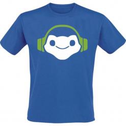 Overwatch Lucio Icon T-Shirt niebieski. Niebieskie t-shirty męskie z nadrukiem Overwatch, l, z okrągłym kołnierzem. Za 74,90 zł.