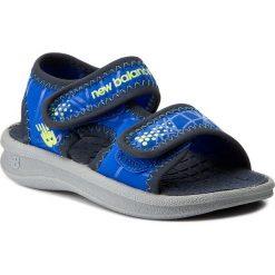 Sandały NEW BALANCE - K2031GBL  Granatowy. Niebieskie sandały chłopięce New Balance, z materiału. Za 99,00 zł.