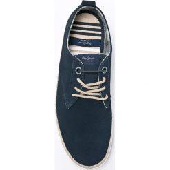 Pepe Jeans - Półbuty Maui Laces Suede. Czarne półbuty skórzane męskie marki Pepe Jeans, z okrągłym noskiem, na sznurówki. W wyprzedaży za 199,90 zł.