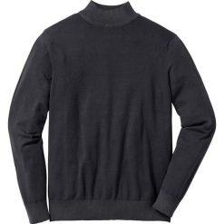 Sweter ze stójką Regular Fit bonprix czarny. Czarne golfy męskie marki bonprix, l, z dzianiny. Za 79,99 zł.
