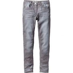 """Spodnie SKINNY """"used"""" bonprix dymny szary. Białe rurki dziewczęce marki FOUGANZA, z bawełny. Za 44,99 zł."""