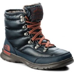 Buty zimowe damskie: Śniegowce THE NORTH FACE - Thermoball Lace II T92T5LYWW Shiny Ink Blue/EtruscanRed