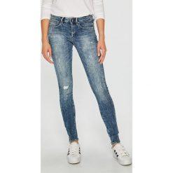 G-Star Raw - Jeansy. Niebieskie jeansy damskie rurki marki G-Star RAW, z bawełny, z obniżonym stanem. W wyprzedaży za 549,90 zł.