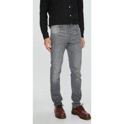 Jack & Jones - Jeansy Glenn. Szare jeansy męskie regular Jack & Jones, z bawełny. W wyprzedaży za 199,90 zł.