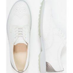 Buty sportowe damskie: ecco CLASSIC HYBRID Obuwie do golfa white/silver metallic
