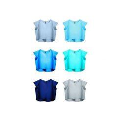 Bluzka Delicja miętowa. Niebieskie bluzki damskie Kozacki Mops, xs, z krótkim rękawem. Za 69,00 zł.