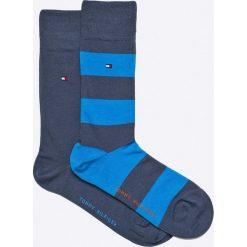 Tommy Hilfiger - Skarpety Rugby (2-pack). Niebieskie skarpetki męskie marki TOMMY HILFIGER, z bawełny. Za 54,90 zł.