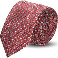 Krawat platinum czerwony classic 223. Czerwone krawaty męskie Recman. Za 49,00 zł.