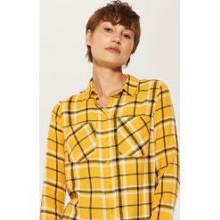 Koszula w kratę - Żółty. Niebieskie koszule damskie marki House, m. Za 39,99 zł.